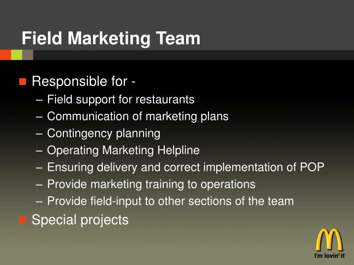 Field Marketing Team