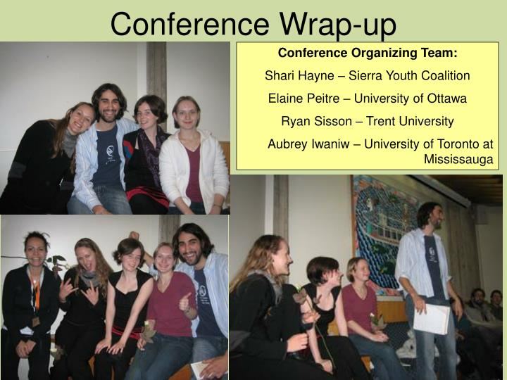 Conference Wrap-up