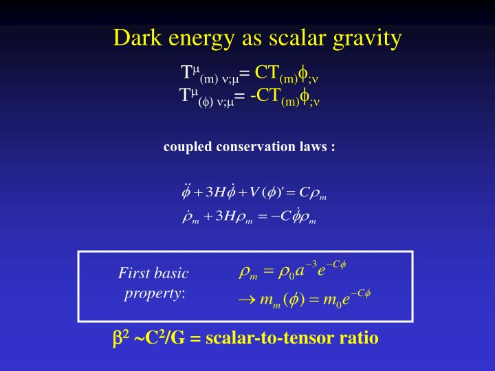 Dark energy as scalar gravity