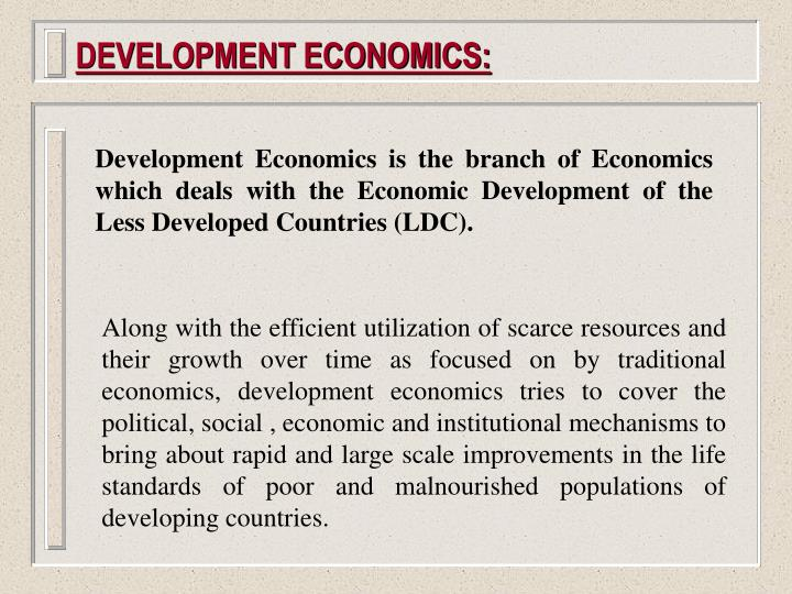 Development economics1