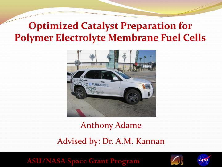 Optimized Catalyst Preparation for Polymer Electrolyte Membrane Fuel Cells