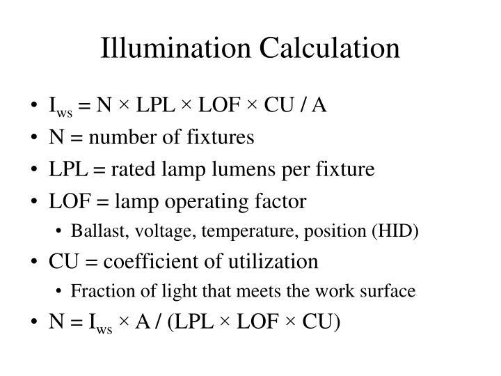 Illumination Calculation