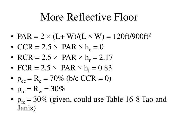 More Reflective Floor