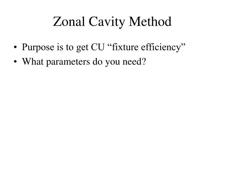 Zonal Cavity Method