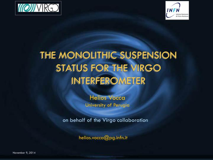 THE MONOLITHIC SUSPENSION