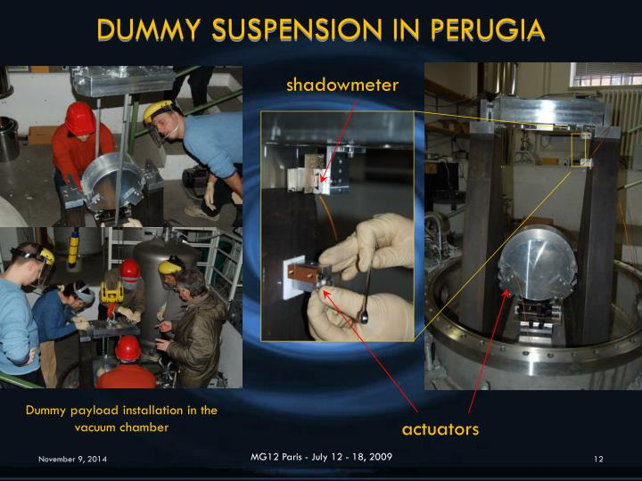 DUMMY SUSPENSION IN PERUGIA