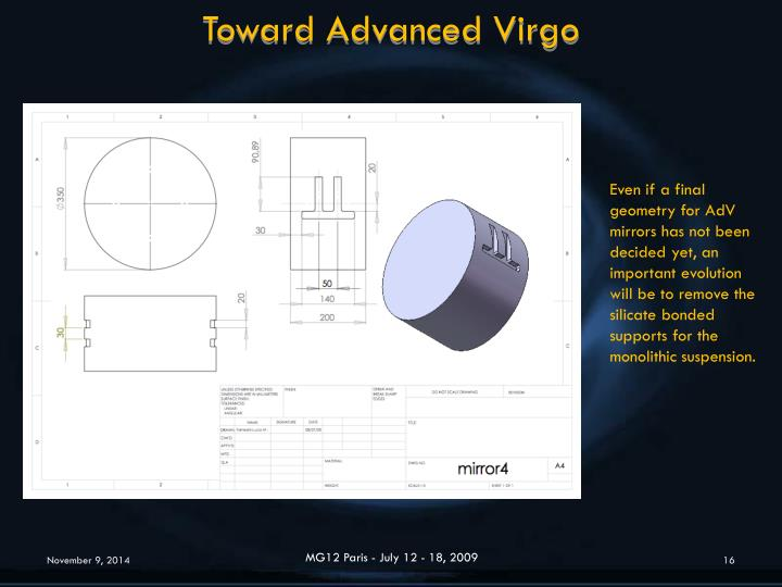 Toward Advanced Virgo
