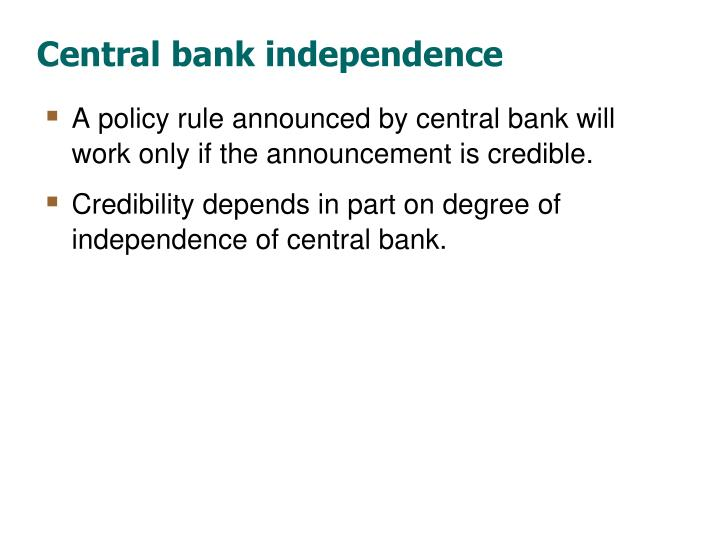 Central bank independence