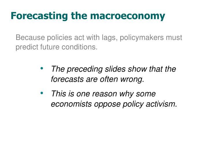 Forecasting the macroeconomy