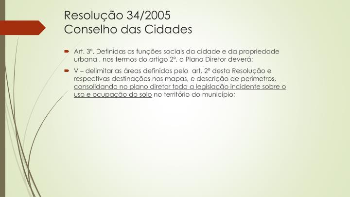 Resolução 34/2005