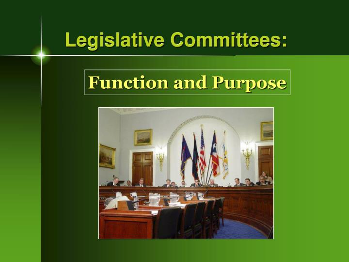 Legislative Committees:
