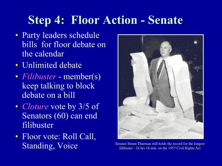Step 4:  Floor Action - Senate