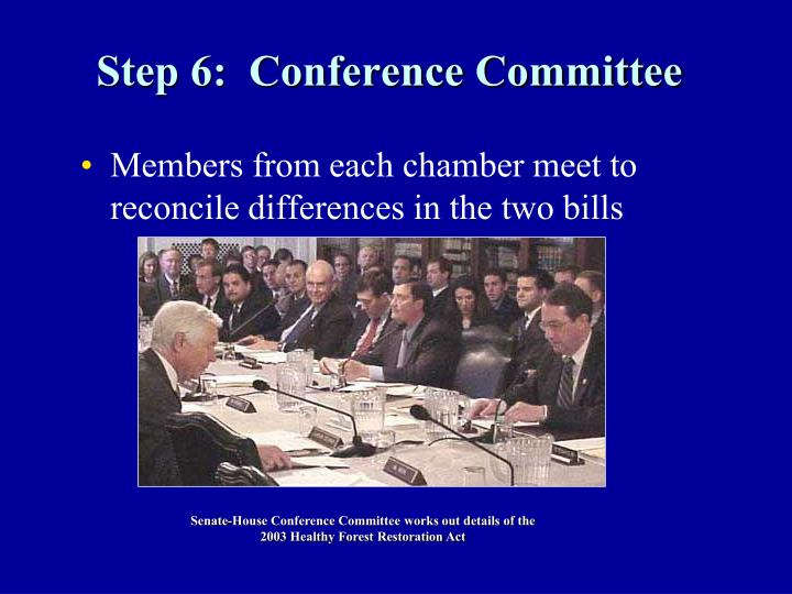 Step 6:  Conference Committee
