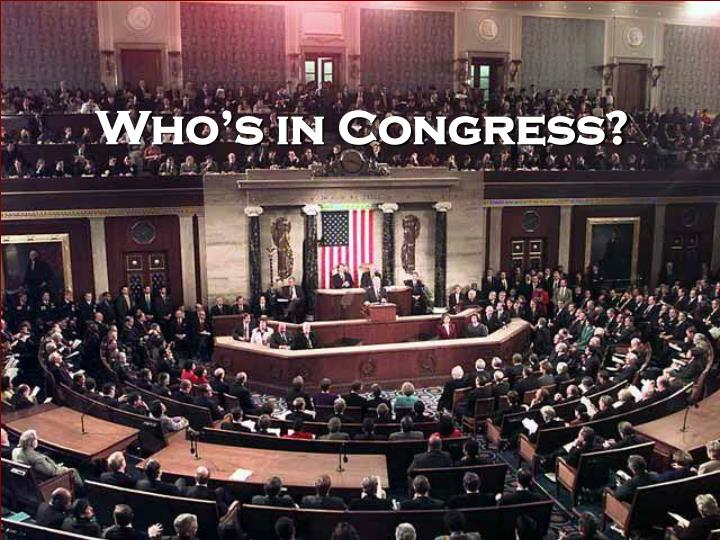 Who's in Congress?