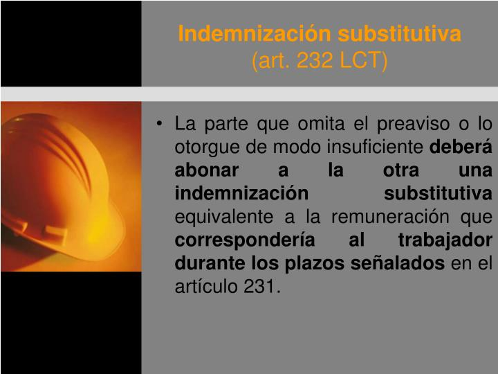 Indemnización substitutiva