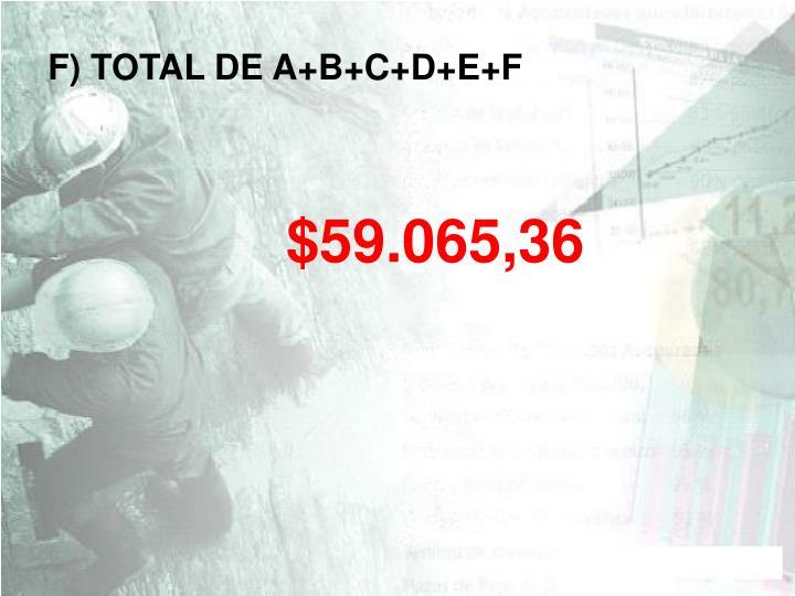 F) TOTAL DE A+B+C+D+E+F
