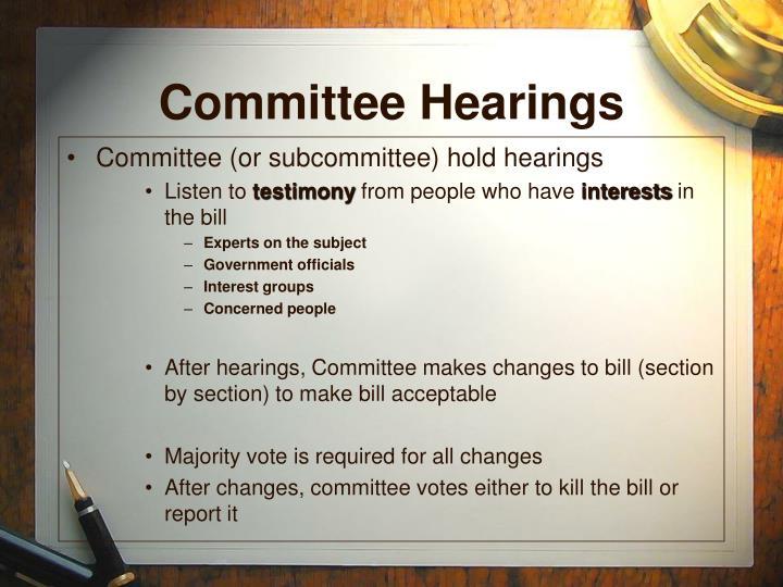 Committee Hearings