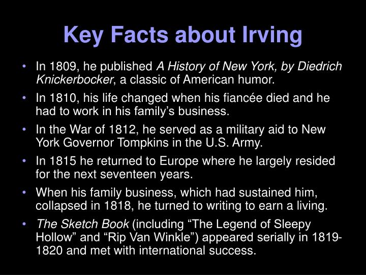 Key facts about irving1