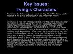 key issues irving s characters2
