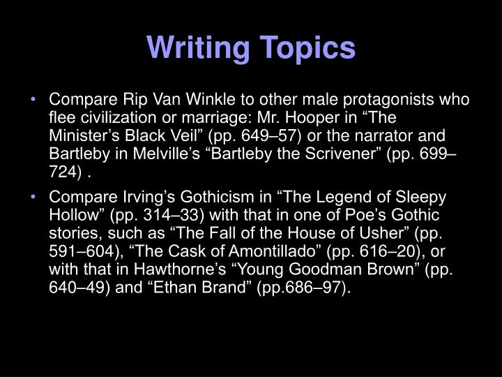 Writing Topics