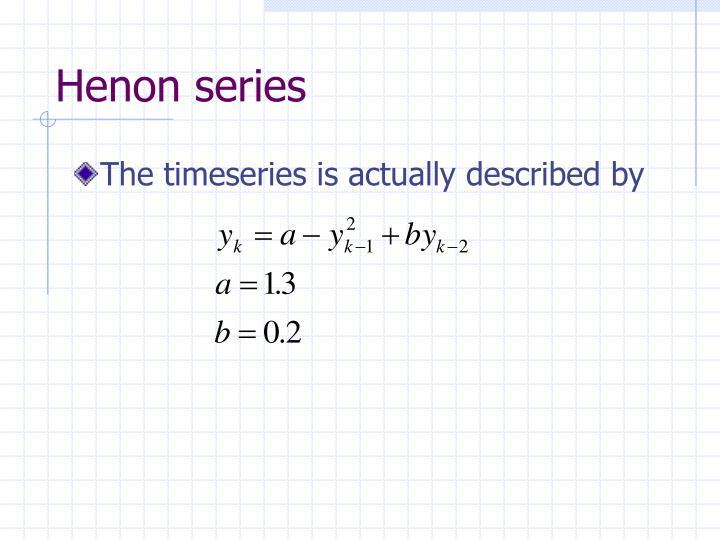 Henon series