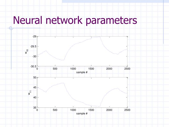 Neural network parameters