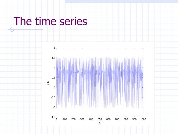 The time series