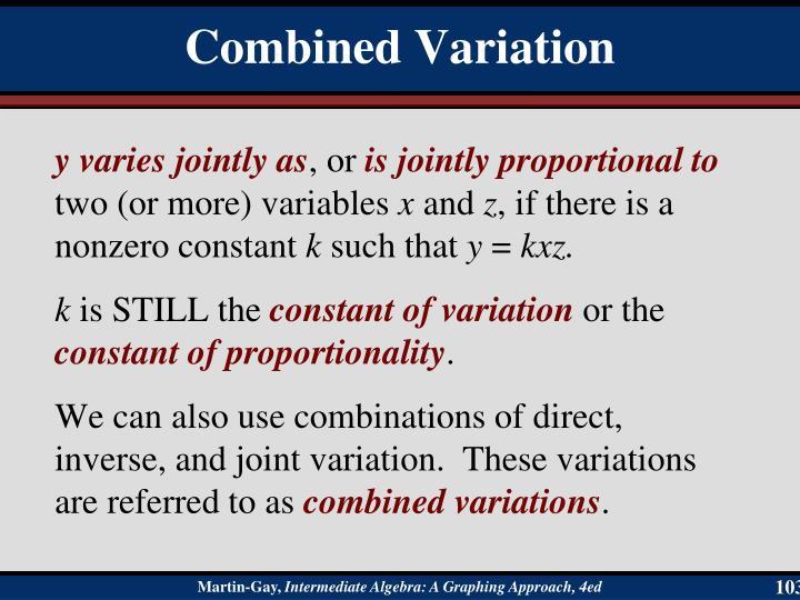 y varies jointly as