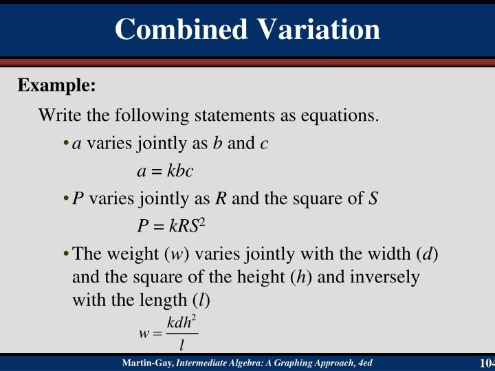 Write the following statements as equations.