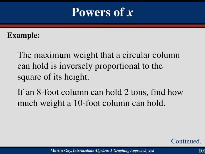 The maximum weight that a circular column can hold is inversely proportional to the square of its height.