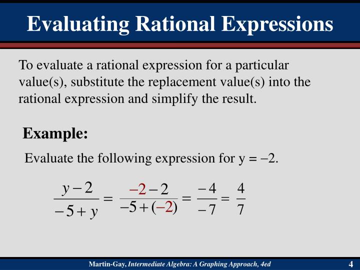 Evaluating Rational Expressions