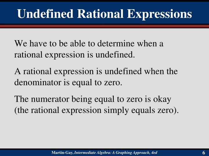 Undefined Rational Expressions