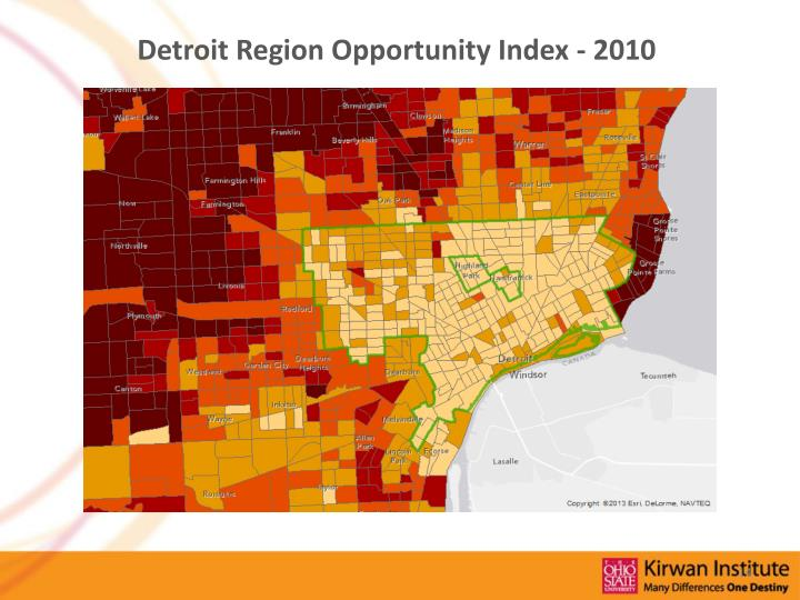Detroit Region Opportunity Index - 2010