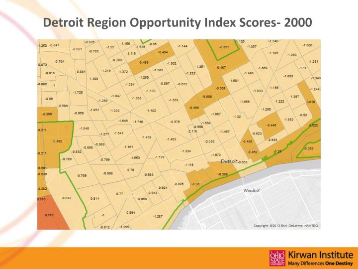 Detroit Region Opportunity Index Scores- 2000