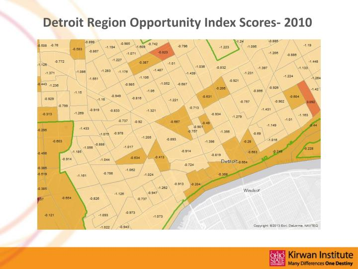 Detroit Region Opportunity Index Scores- 2010