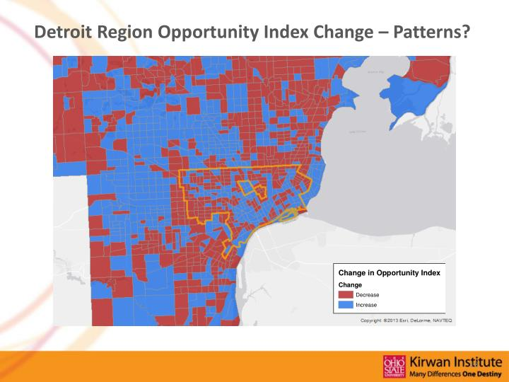Detroit Region Opportunity Index Change – Patterns?