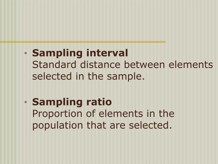 Sampling interval