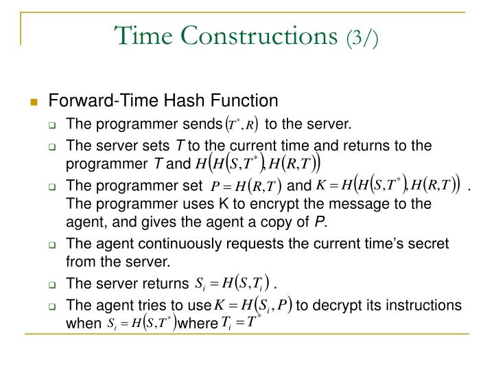 Time Constructions