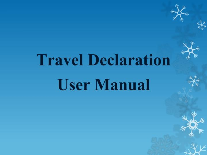 Travel Declaration