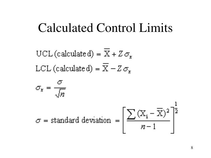 Calculated Control Limits