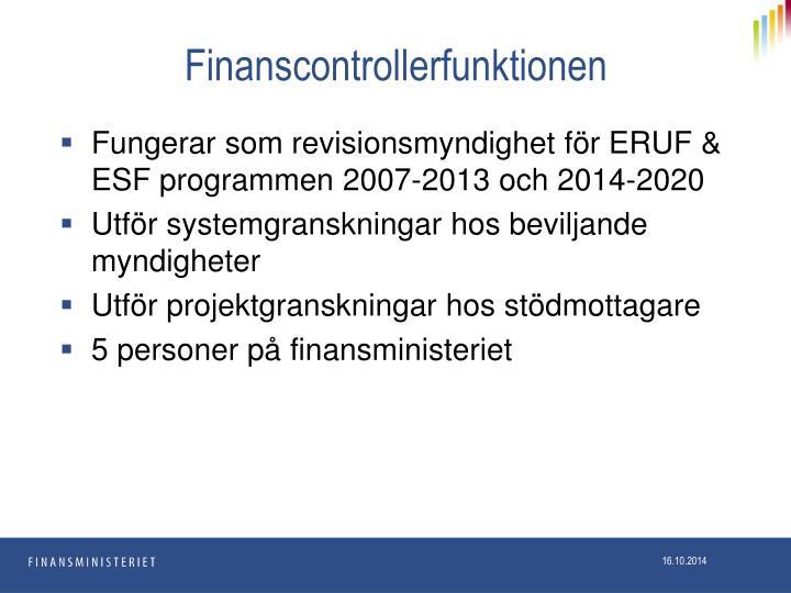 Finanscontrollerfunktionen