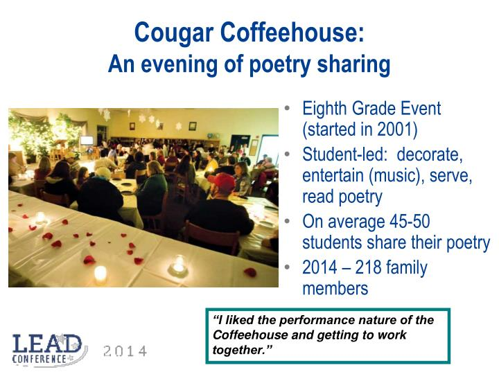Cougar Coffeehouse: