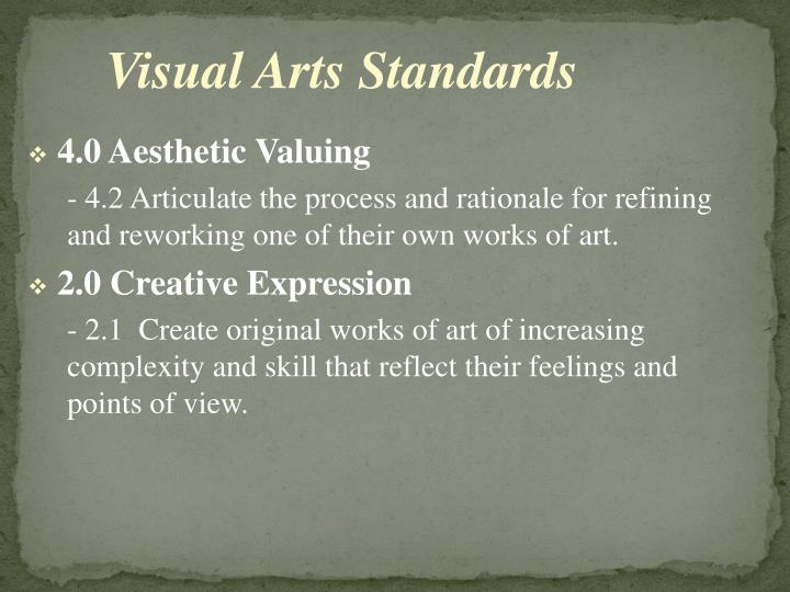 Visual Arts Standards