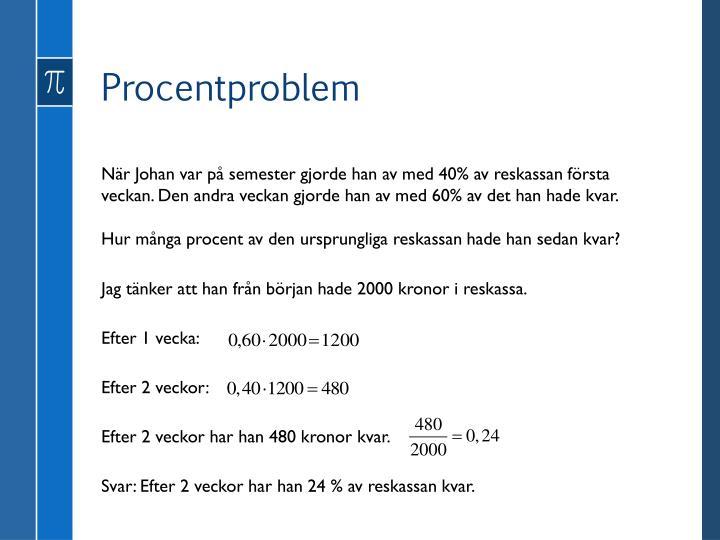 Procentproblem