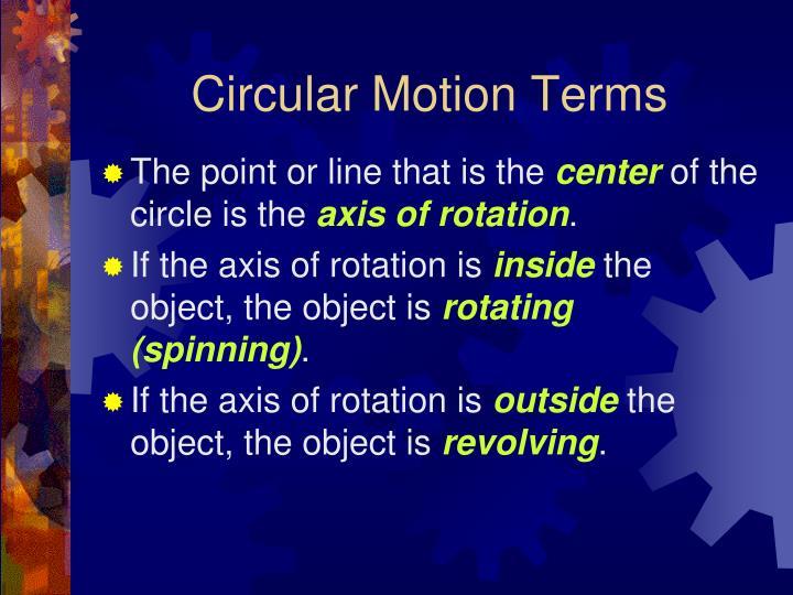Circular Motion Terms