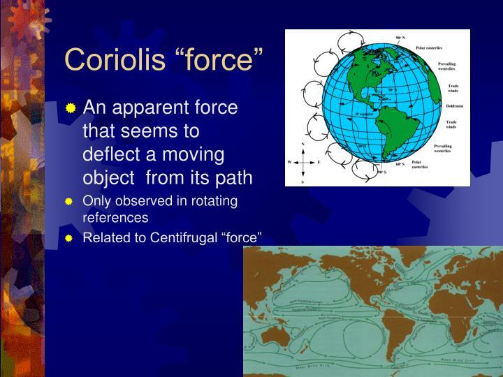 "Coriolis ""force"""