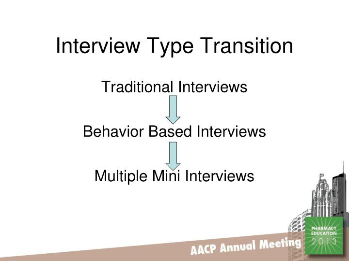 Interview Type Transition