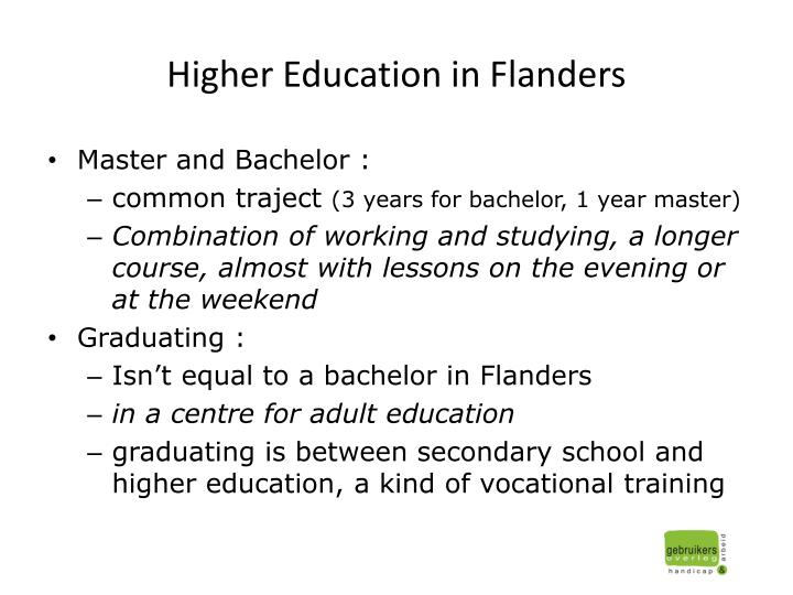 Higher education in flanders
