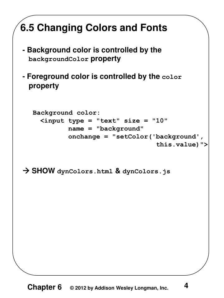 6.5 Changing Colors and Fonts