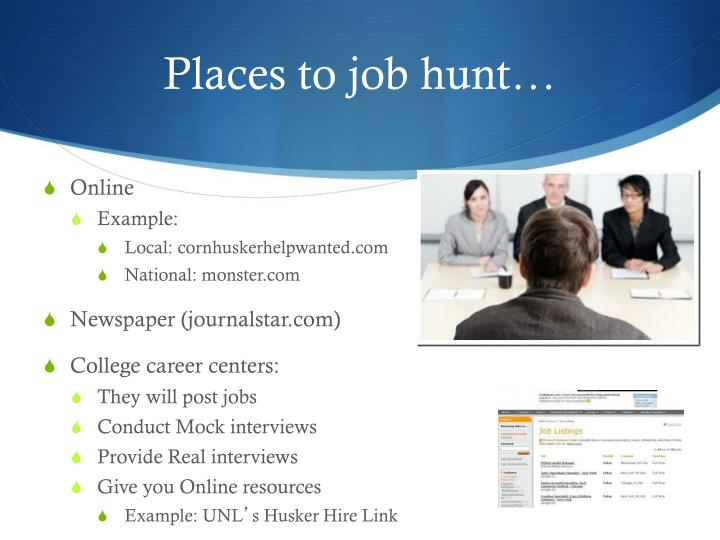Places to job hunt…